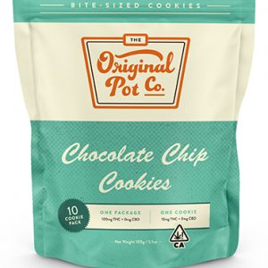 100mg Chocolate Chip Cookies (10 Pack) - Hybrid - Original Pot Co.