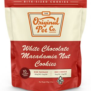 100mg WHITE CHOCOLATE MACADAMIA NUT Cookies (10 Pack) – Hybrid – Original Pot Co.